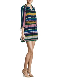 Shoshanna Ralston Striped Silk Dress