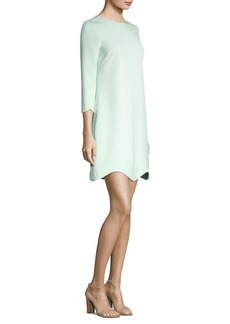 Reina Scalloped Trim Dress