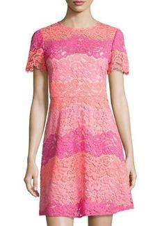 Shoshanna Rio Floral-Lace Dress
