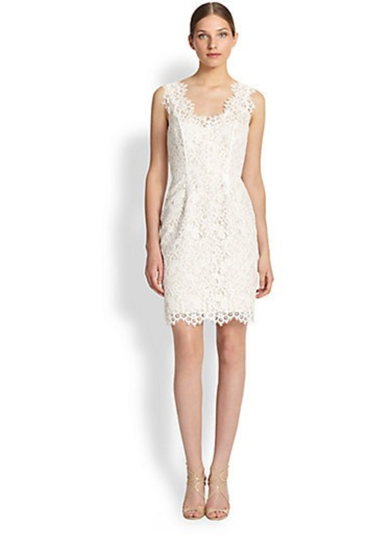Shoshanna Rose Lace Cocktail Dress