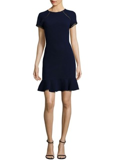 Shoshanna Ruffle Hem Sheath Dress