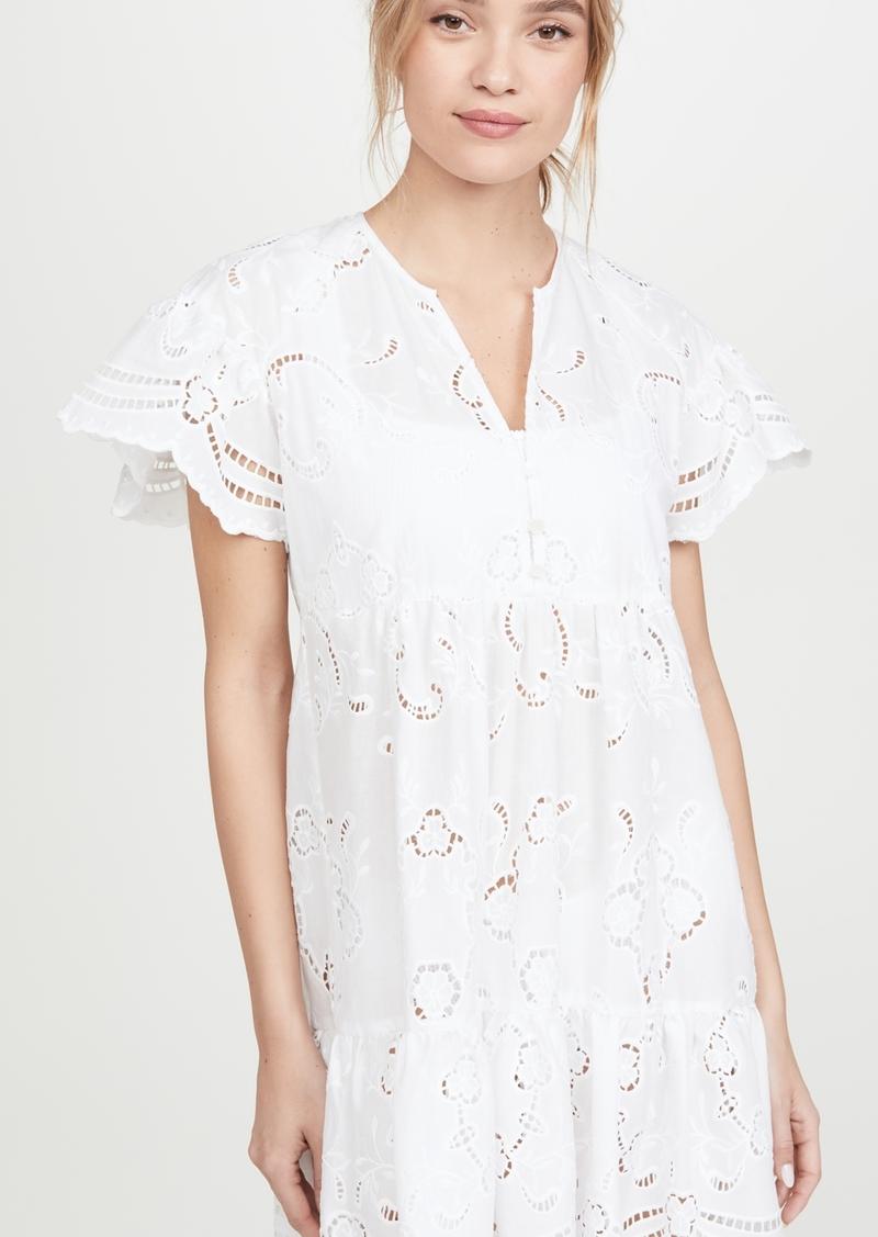 Shoshanna Ruffled Hem Mini Dress