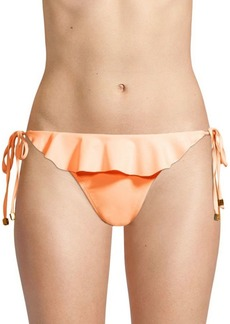 Shoshanna Ruffled Side-Tie Bikini Bottom