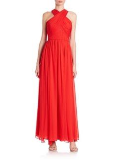 Shoshanna Silk Chiffon Dione Gown