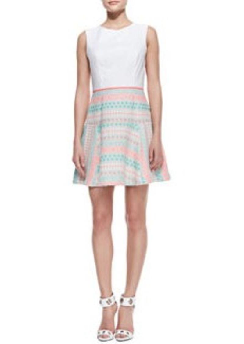 Shoshanna Sleeveless Combo A-line Dress