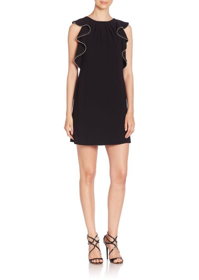 Shoshanna Sleeveless Dress with Ruffles