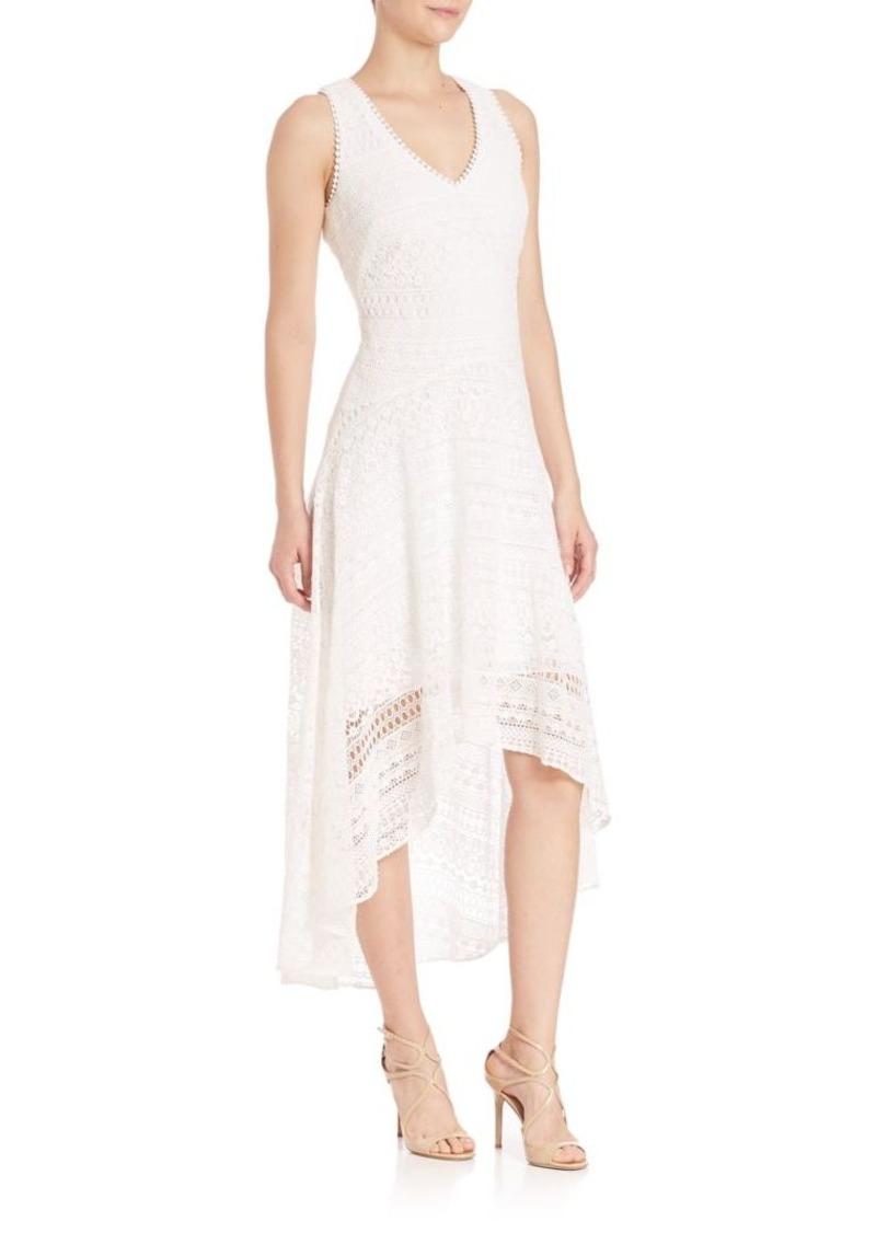 Shoshanna Shoshanna Sleeveless High Low Lace Dress Dresses