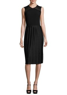 Shoshanna Sleeveless Pleated Cocktail Dress