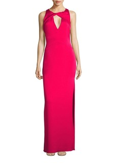 Shoshanna Sleeveless Side Slit Gown