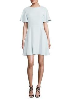 Shoshanna Solid Fit-&-Flare Crepe Dress