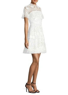 Sora Embroidered Lace Dress