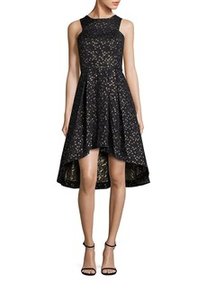 Shoshanna Star Jacquard Hi-Lo Dress