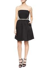 Shoshanna Strapless Beaded Party Dress