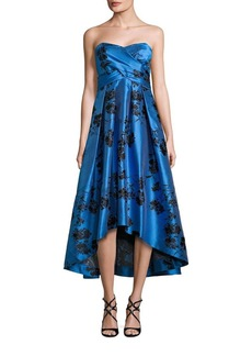 Shoshanna MIDNIGHT Strapless Floral Printed Dress
