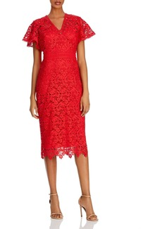 Shoshanna Taylor Imperial Lace Midi Dress