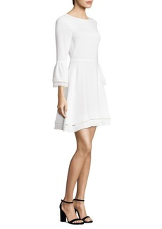 Shoshanna Three-Quarter Bell Sleeve Dress