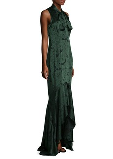 Shoshanna Floral Satin Gown