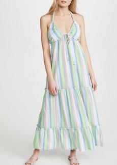 Shoshanna Tiered Halter Maxi Dress