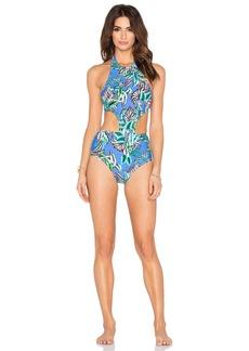 Shoshanna Tropical Palms Sporty Monokini