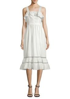 Valery Flounce Midi Dress