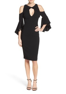 Shoshanna Varennes Cold Shoulder Midi Dress