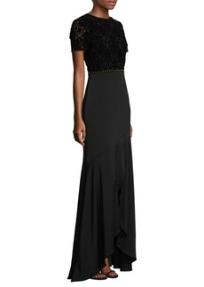 Shoshanna Velvet and Lace gown
