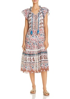 Shoshanna Veranda Breeze Swing Midi Dress Swim Cover-Up