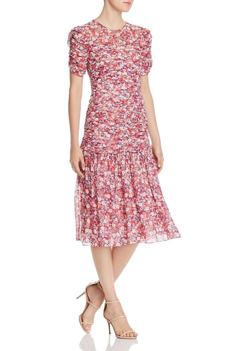 Shoshanna Vonne Floral Midi Dress