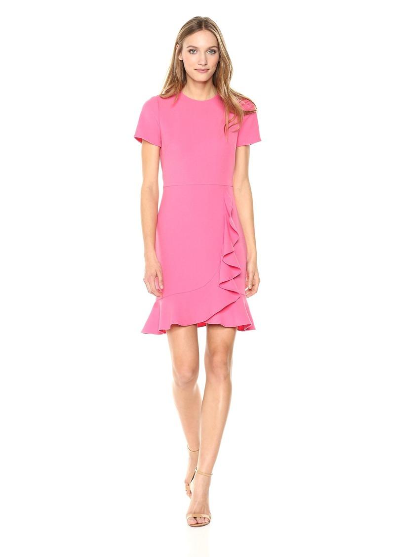 Shoshanna Women's Airi Short-Sleeve Cascading Ruffle Dress