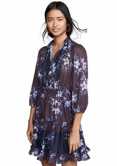 Shoshanna Women's Arlene Dress Denim/Scarlet/Navy