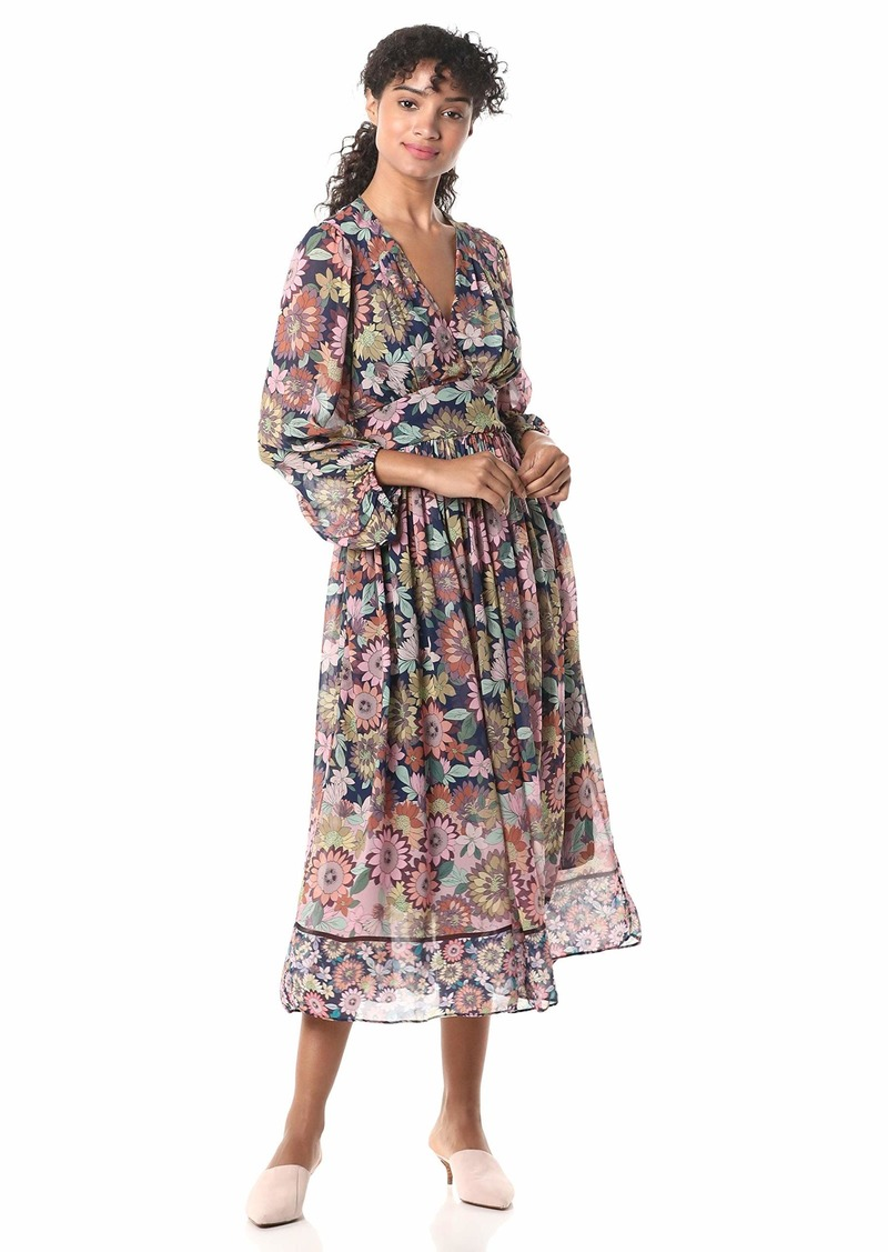 Shoshanna Women's Aya Dress Navy/Blush Multi
