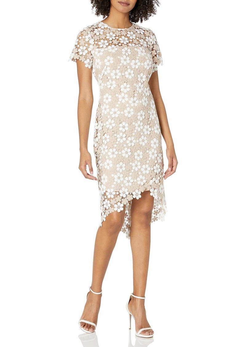 Shoshanna Women's Baylor Short-Sleeve High-Low Dress