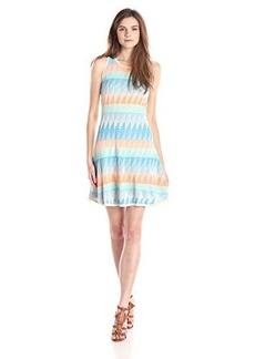 Shoshanna Women's Blythe Diamond Geo Knit Fit and Flare Dress