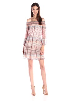 Shoshanna Women's Boho Print Chiffon Rosalyn Dress