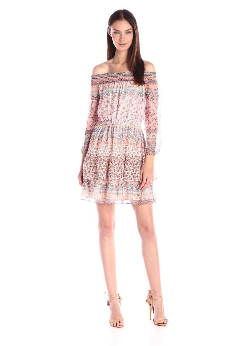 Shoshanna Women's Boho Print Chiffon Rosalyn Dress