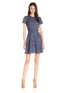 Shoshanna Women's Chambray Eyelet Mika Dress