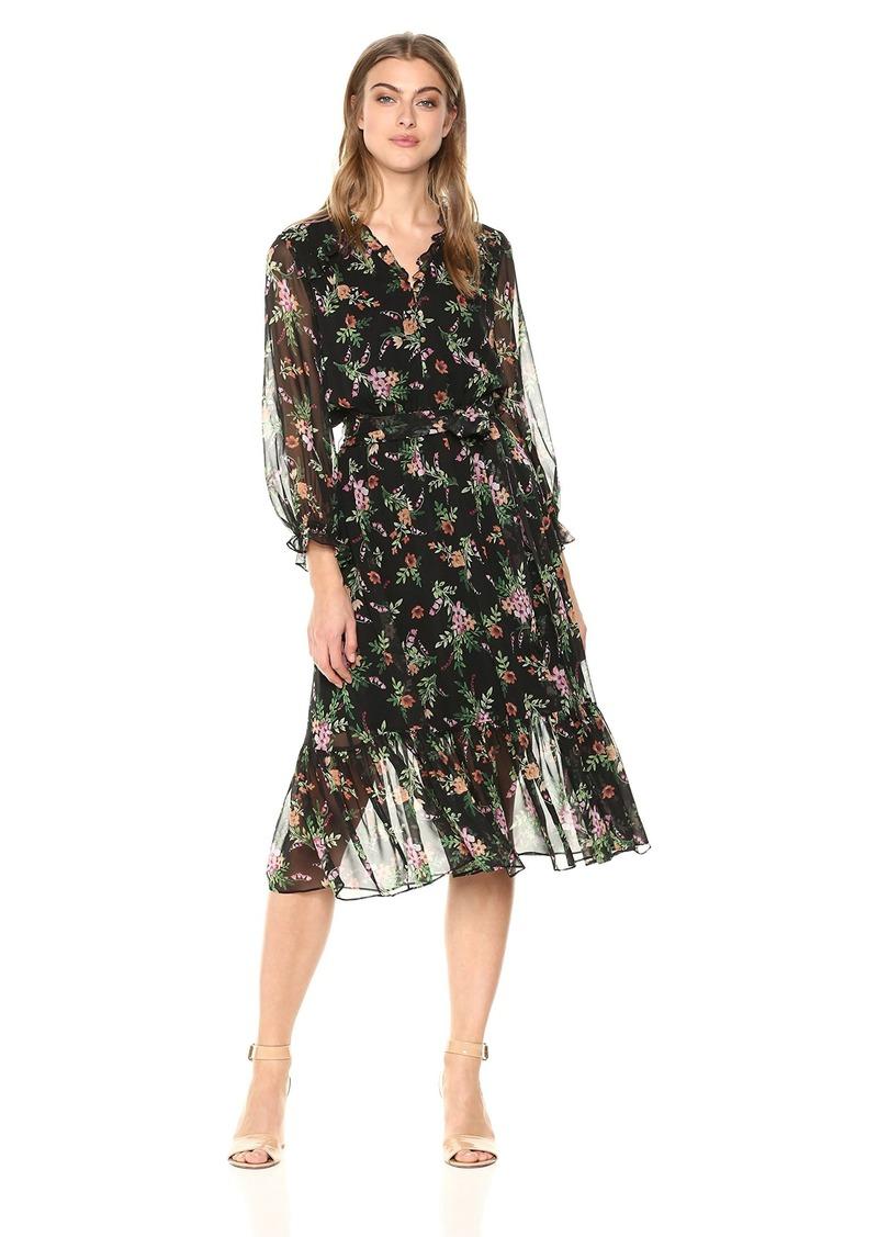 Shoshanna Women's Danna Long Sleeve Shift Dress