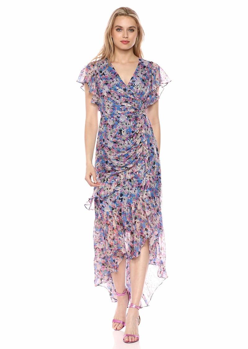 Shoshanna Women's Elnora Gown Lurex/Pink Multi