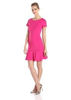 Shoshanna Women's Fallon Neoprene Drop Waist Dress