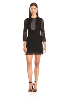 Shoshanna Women's Gabby Dress-Jet Geo Mosaic Lace