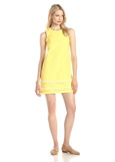 Shoshanna Women's Gemi Fringed Jacquard Shift Dress