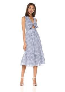 Shoshanna Women's Gilroy Midi Sleeveless Shift Dress