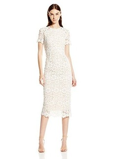 Shoshanna Women's Guipure Lace Beaux Midi Dress