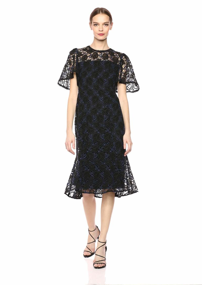 Shoshanna Women's Harmonia Short Sleeve Lace Dress