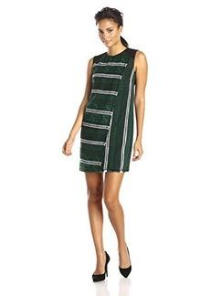 Shoshanna Women's Iggy Graphic Tweed Sleeveless Dress