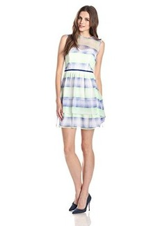 Shoshanna Women's Jessica Silk Optical Plaid Tiered Dress