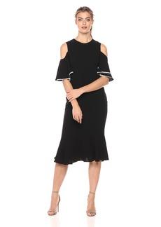 Shoshanna Women's Keiko Cold-Shoulder Sheath Dress with Trumpet Bottom