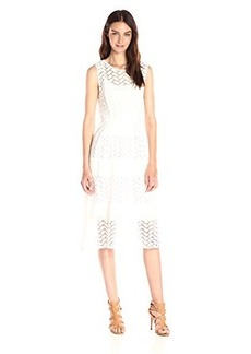 Shoshanna Women's Leaf Weave Eyelet Monica Dress