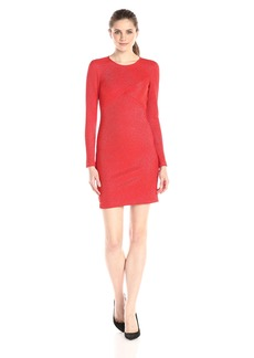 Shoshanna Women's Lurex Stripe Stretch Knit Naz Long Sleeve Dress