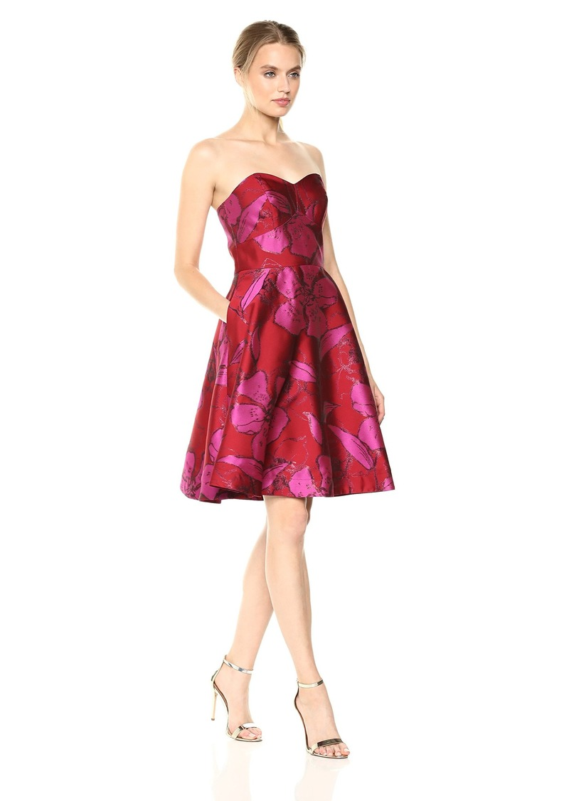 Shoshanna Women's Mikala Strapless Fit and Flare Floral Dress